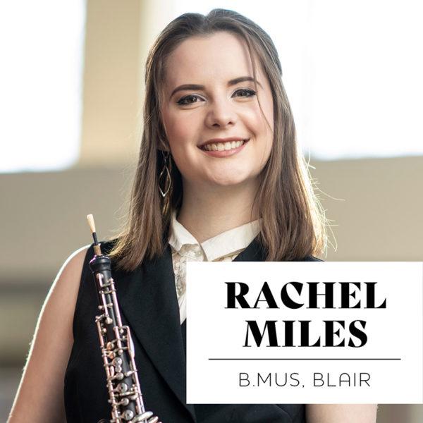Rachel Miles, BMUS'20, Blair