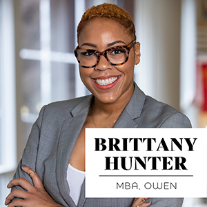 'It's a lateral game, not a ladder game': Brittany Hunter, MBA'20