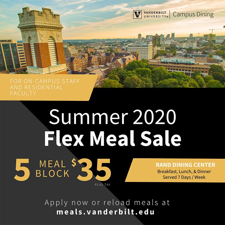 Summer 2020 Flex Meal Sale