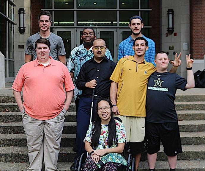 Next Steps at Vanderbilt class of 2020. (L to r, back row to front row) Daniel Brawner, Chris Webster, Jack Pipkorn, Charles Fedderman, Darko Osman, Alex Zarabi, Rob Funk, Peach Chinratanalab
