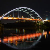 Nashville's Korean War Veterans Memorial Bridge. (Photo by Nathan Morgan for Vanderbilt University)