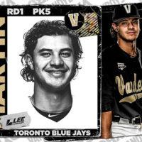 Austin Martin Toronto Blue Jays baseball card mockup