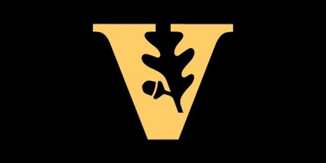 "Vanderbilt oak leaf and acorn ""V"" logo"