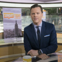 photo of Willie Geist at the Sunday TODAY news desk