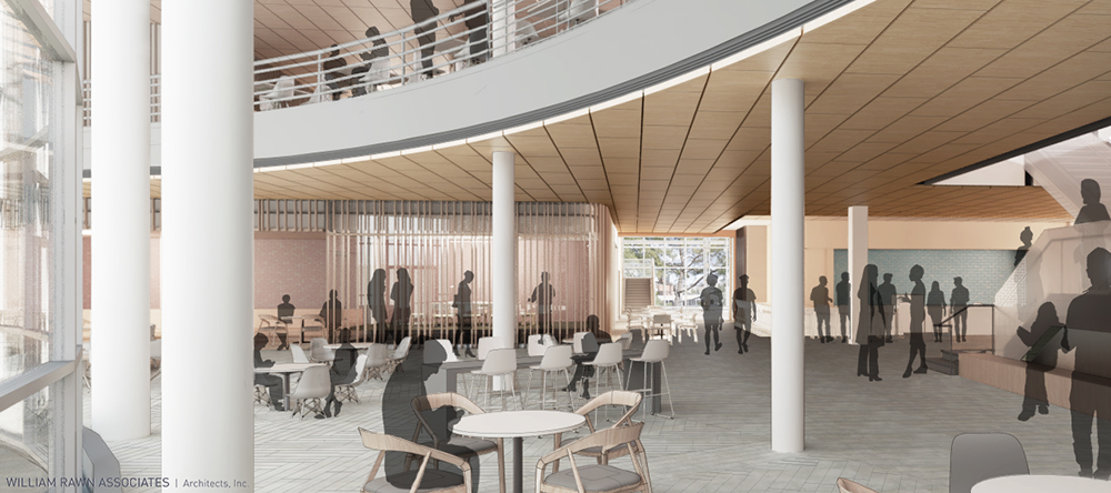 Drawing of the interior of the new Management Hall