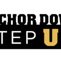 Anchor Down Step Up campaign logo with background
