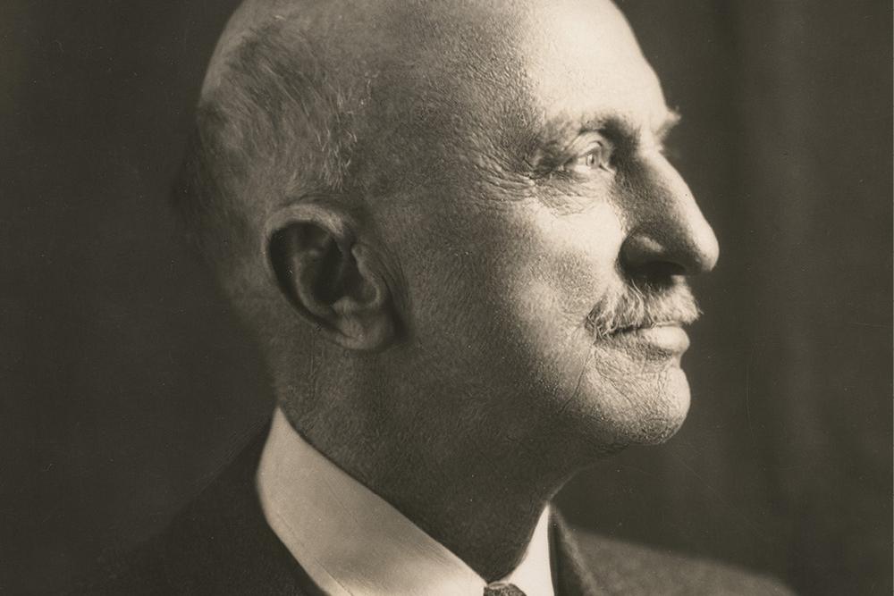 black and white photo of Chancellor James Kirkland