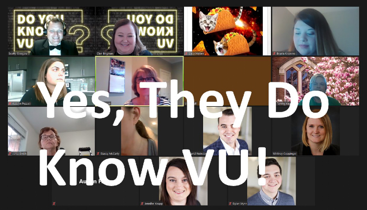"""The """"Do You Know VU?"""" virtual trivia contest was conducted on Zoom July 23."""