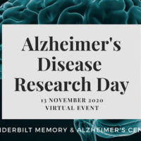Alzheimer's disease Research Day virtual event Nov. 13, 2020