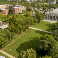 Peabody Lawn Transformation aerial