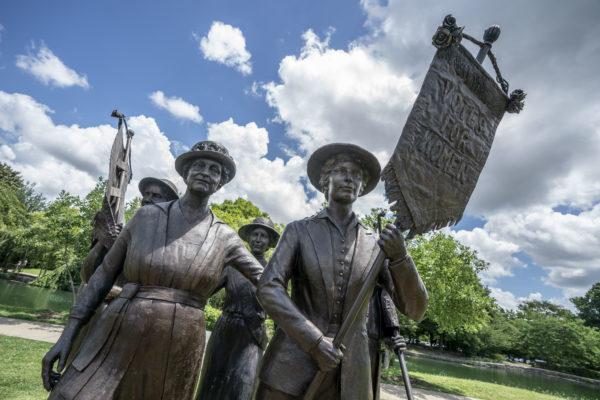 Woman Suffrage Monument in Nashville's Centennial Park. (John Russell/Vanderbilt)