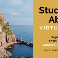 Study Abroad Virtual Fair Sept. 2