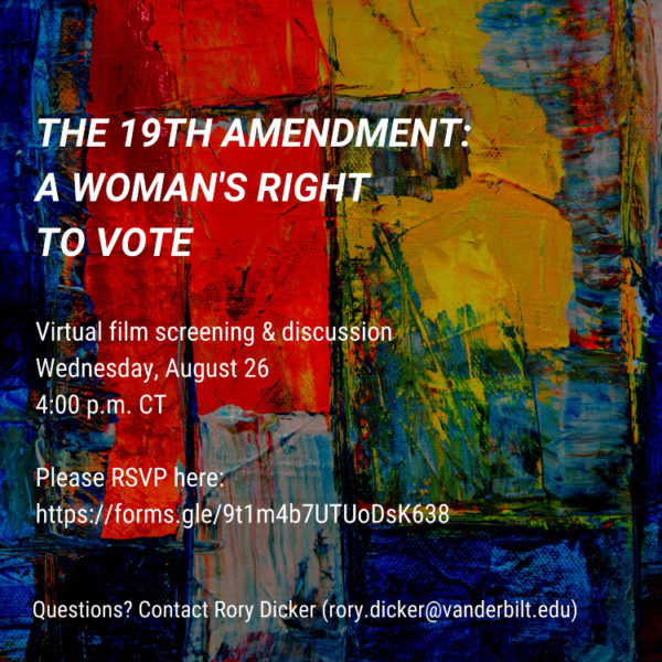 The 19th Amendment: A Women's Right to Vote film screening