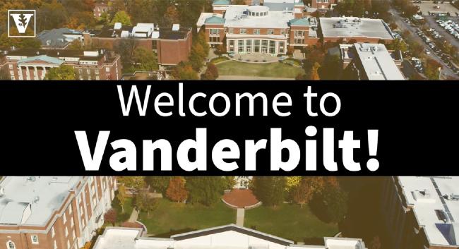 Welcome to Vanderbilt (campus aerial)
