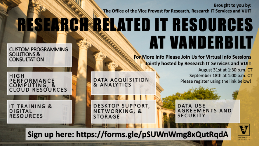 Research-related IT resources at Vanderbilt