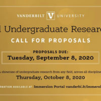 Virtual Undergraduate Research Fair: Call for proposals