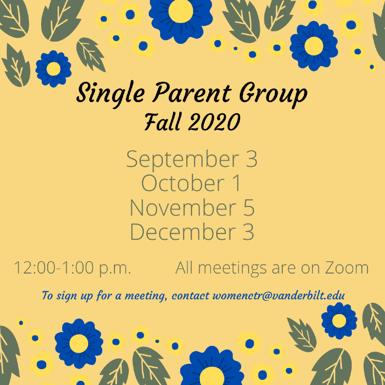 Single Parent Group Fall 2020