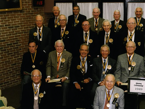 Dr. Robert Gotcher and classmates from the Vanderbilt University School of Medicine Class of 1949. (photo courtesy of Ann Price)