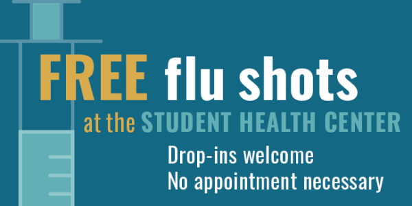 Student flu shots graphic