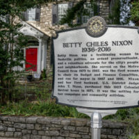 Historical marker pays tribute to Betty Nixon outside her former home on 18th Avenue South