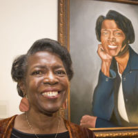 Dorothy Phillips with Trailblazer portrait