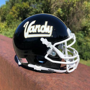 The Commodore football team will wear helmets featuring a vintage Vandy logo beginning at the home opener on Oct. 3. (Vanderbilt University)