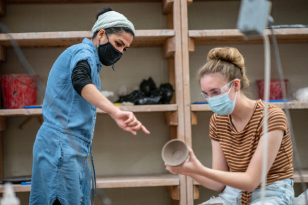 Raheleh Filsoofi, a new assistant professor in the Department of History of Art and Architecture, is teaching two introductory courses on ceramics this fall. (Vanderbilt University)