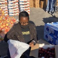 Vanderbilt community members work the OneGenAway food distribution event