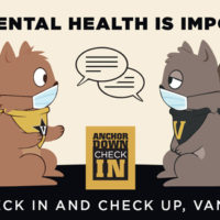 Squirrel check in and check up graphic