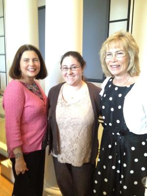 Photo of Rachel Schles with Deborah Hatton and Karen Blankenship