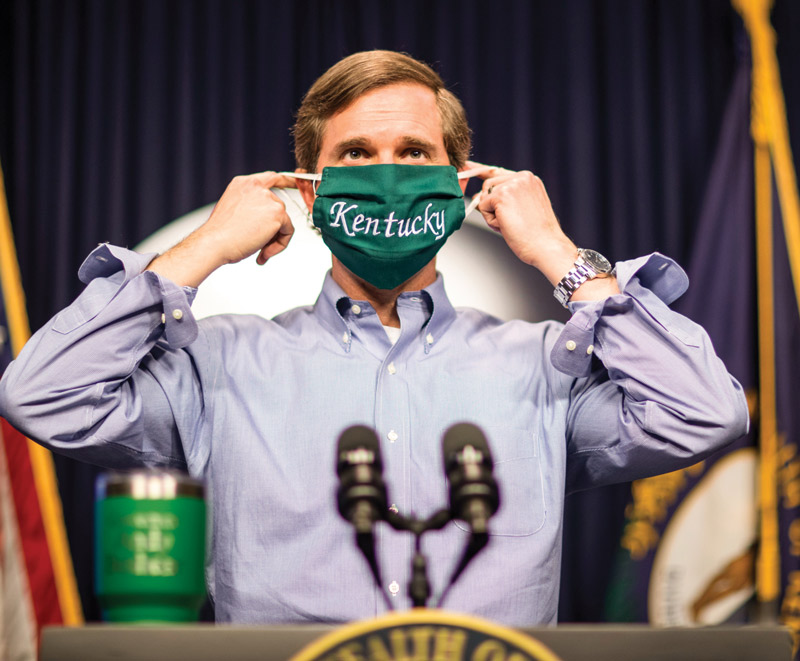 Steady Hand: Gov. Andy Beshear, BA'00, seeks the 'why' in governing as he guides Kentucky through the pandemic and political divide