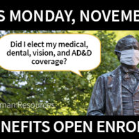 2021 Benefits Open Enrollment ends Monday, Nov. 2