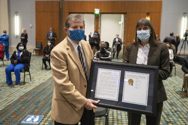Vanderbilt Professor Joe Hamilton and At-Large Council Member Burkley Allen