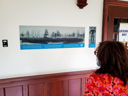 Archival photographs from Special Collections and University Archives are currently on display at E. Bronson Ingram College. (Brandon Hulette/Vanderbilt)