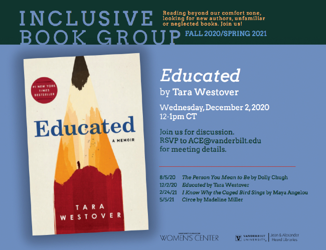 Inclusive Book Group: Educated by Tara Westover