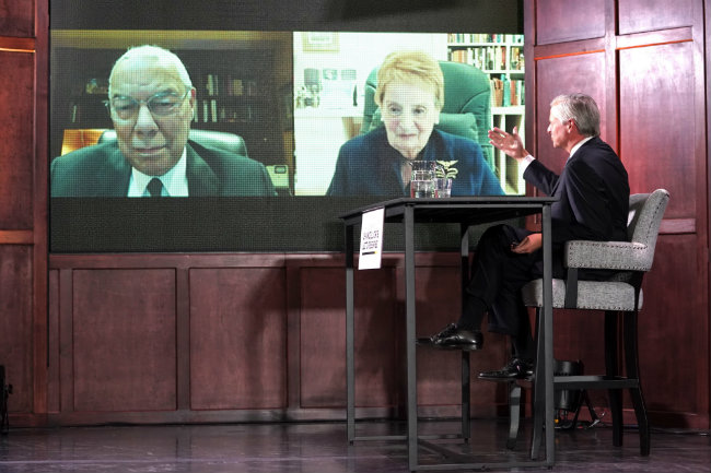 Albright and Powell urge national unity, rebuilding during Vanderbilt Chancellor's Lecture
