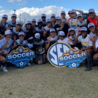 Vanderbilt Soccer beat Arkansas 3-1 on Nov. 22, 2020, in the SEC Tournament championship, giving the program its first league tournament title since 1994.