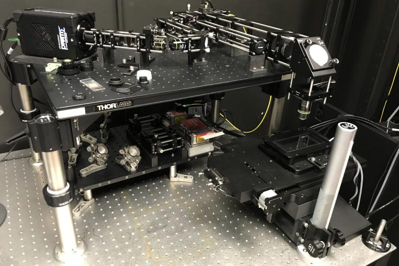Scanned oblique plane illumination microscope