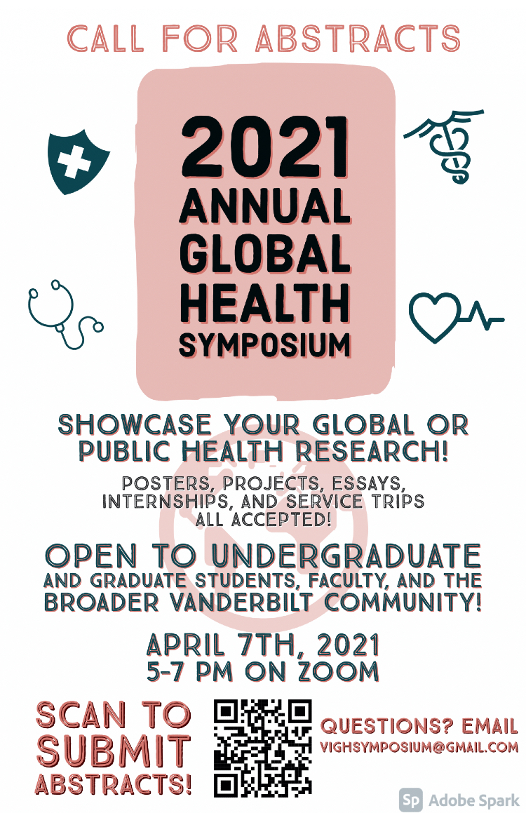 2021 Global Health Symposium flyer