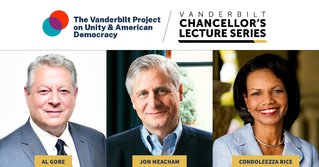 Former Vice President Al Gore kicks off Vanderbilt Project on Unity and American Democracy, followed by case study on PEPFAR with 66th Secretary of State Condoleezza Rice