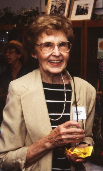 ProRetired French professor Ruth Grace Zibart at reception for historian J. León Helguera