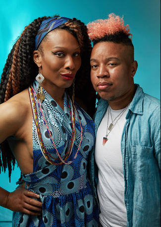 "Lady Dane Figueroa Edidi and J Mase III, co-editors of ""The Black Trans Prayer Book"""