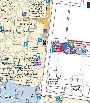 Campus map snapshot of area surrounding Owen