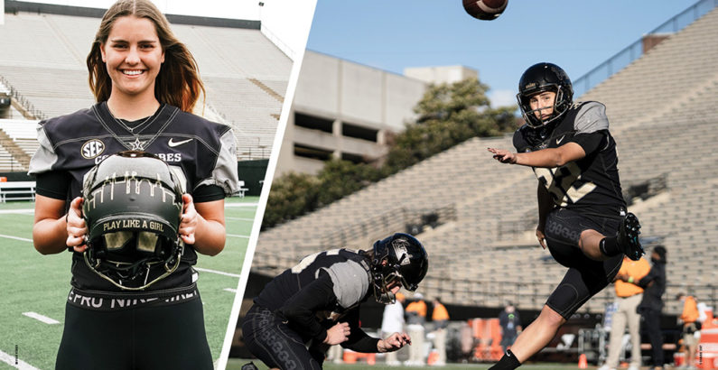 Kicking Down Barriers: Sarah Fuller makes history as kicker for Vanderbilt football team