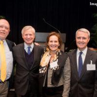 Dean John Geer, Professor Jon Meacham, Carolyn Thomas Rogers, Robert Moss Rogers in 2019.