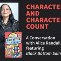"Alice Randall ""Characters and Character Counts"" poster"