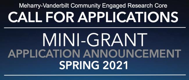 Meharry-Vanderbilt Community Engaged Research Core seeks mini-grant applicants