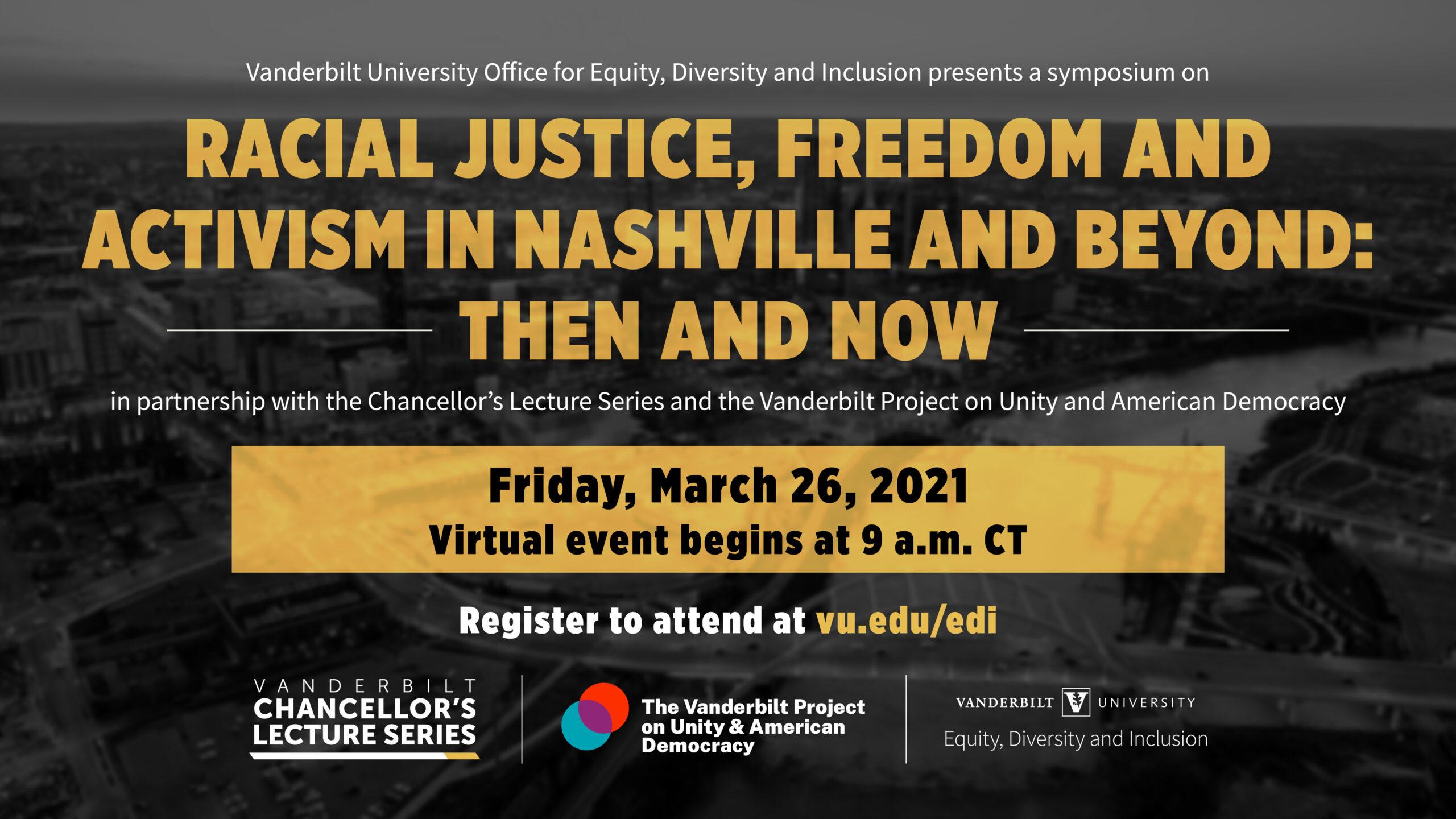 Vanderbilt convenes scholars, activists across generations to examine Nashville's role in fight for racial justice (UPDATED)
