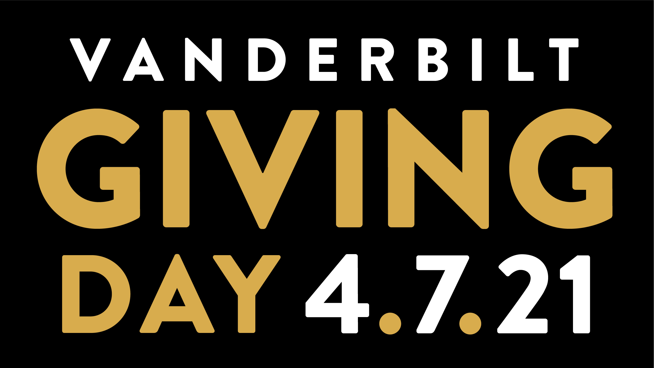 Vanderbilt Giving Day April 7, 2021