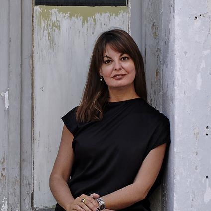 environmental photo of curator Marina Fokidis